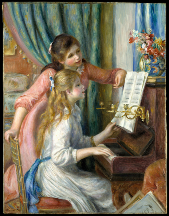 renoir girls at the piano