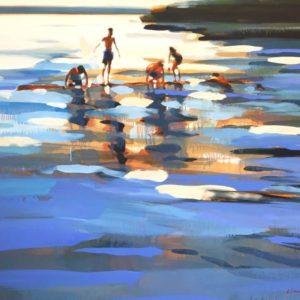 Rabbit Lake 19 Painting, 52 H x 62 W x 1.5 in Elizabeth Lennie Canada