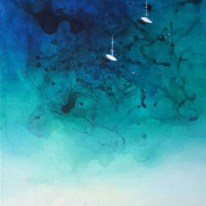 Blue Bay | Paradise Painting, 16.1 H x 12.2 W x 1.6 in M a r t y n o v a
