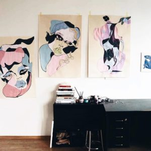 These alinazamanova paintings  ICYMI enter our Wall Makeover Giveawayhellip